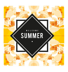 Trendy summer cards with elements and abstract vector