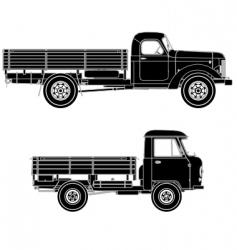 trucks silhouettes vector image