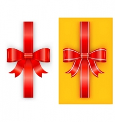 two red bow vector image vector image