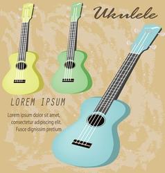 ukulele vector image
