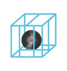 vr circular camera 3d panorama vector image