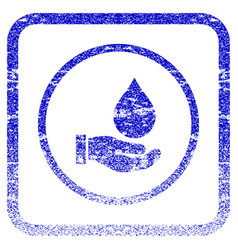 water service framed textured icon vector image