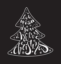 we wish you a merry christmas quote vector image