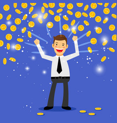 winner money rain vector image
