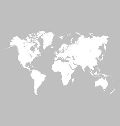 world map concept simple planet sign vector image