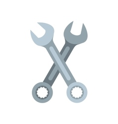 Wrenches icon flat style vector image
