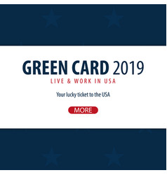 green card lottery banner immigration and visa to vector image