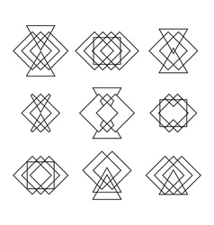 Set of trendy hipster geometric shapes Ethnic vector image
