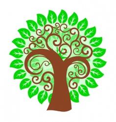 swirly tree vector image vector image