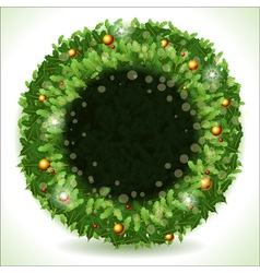 Wreath Christmas with Black Placeholder vector image vector image