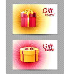 2 bright gift cards vector image vector image
