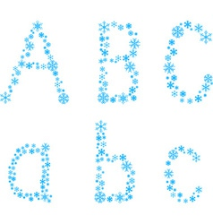 ABC letters vector image