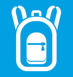Backpack icon white vector