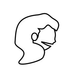 face girl funny glasses outline vector image