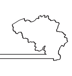 map of belgium continous line vector image