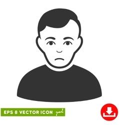 Sad man eps icon vector