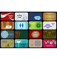 set variety horizontal business cards vector image