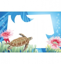 turtle background vector image vector image