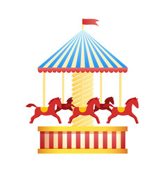 vintage merry-go-round carousel icon fair symbol vector image