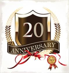 20 years anniversary golden label vector