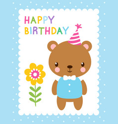 cute with a bear vector image vector image