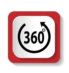 icons labeled 360 degrees vector image