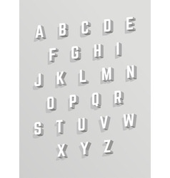 White font with shadows vector image vector image
