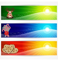 Abstract christmas banners for your design header vector image