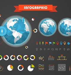Infographic elements template Statistic charts vector image vector image