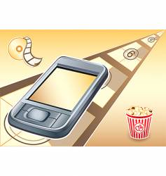 PDA movies device vector image vector image