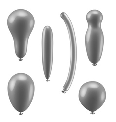 Set of different types of balloons vector image vector image