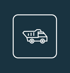 truck outline symbol premium quality isolated vector image