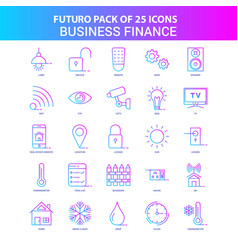 25 blue and pink futuro business finance icon pack vector