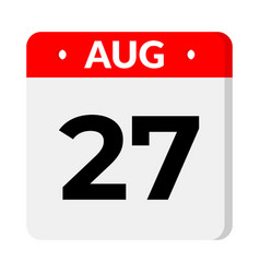 27 august calendar icon vector