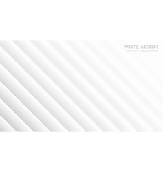 3d minimalist white abstract background side view vector image
