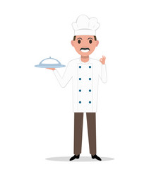 a cartoon chef cook man vector image vector image