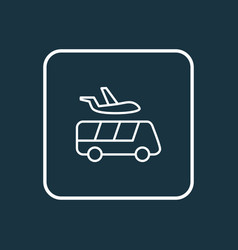 Airport shuttle icon line symbol premium quality vector