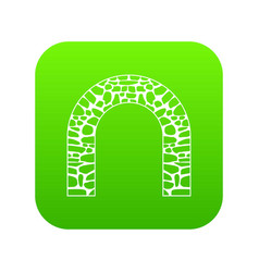 arch icon digital green vector image