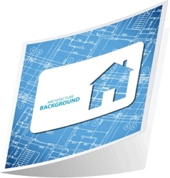 Architecture background sticker 3 vector image
