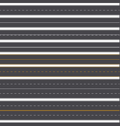 Asphalt roads vector