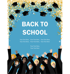 Back to academic school background vector