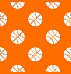 basketball ball pattern seamless vector image