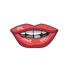 Beautiful make glamour gloss lips vector