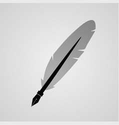 black-and-white feather and flourish vector image