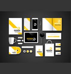 Black branding Mockup vector