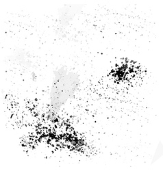 Black ink droplets on a white background vector