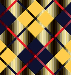 blue orange tartan fabric texture diagonal pattern vector image