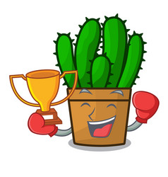 Boxing winner the beautiful spurge cactus plant vector