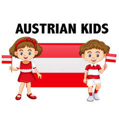 Boy and girl from austria vector