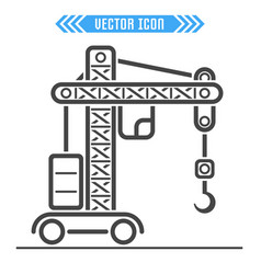 building crane icon sign symbol vector image